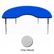 "Activity Table, 48"" x 96"", Kidney, Standard Adj. Height, Gray Nebula"
