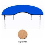 "Activity Table, 48"" x 96"", Kidney, Juvenile Adj. Height, Light Oak"