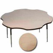 "ADA Activity Table - Flower -  60"" Diameter, Adj. Height, Fusion Maple"