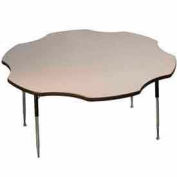 "Activity Table, 60"" Diameter, Flower, Standard Adj. Height, Gray Nebula"