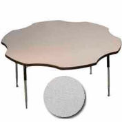 "Activity Table, 60"" Diameter, Flower, Juvenile Adj. Height, Gray Nebula"