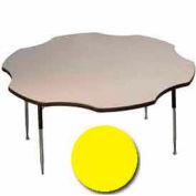 "Activity Table, 60"" Diameter, Flower, Standard Adj. Height, Yellow"