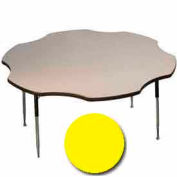 "Activity Table, 60"" Diameter, Flower, ADA Compliant Adj. Height, Yellow"