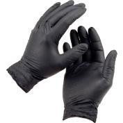 Ammex® Powder-Free Textured Exam Grade Nitrile Gloves, Black, Medium, 100/Box, 10 Box/CS