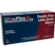 "Ammex® GLPHD GlovePlus Medical/Exam Latex Gloves, Powder-Free, 12""L, Blue, L, 50/Box, 10 Box/CS"