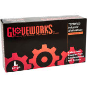 Ammex® Gloveworks Industrial Grade Nitrile Gloves, Powder-Free, Blue, Large, 100/Box, 10 Box/CS