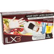 Ammex® LX3 Powder-Free Textured Industrial Grade Latex Gloves, XS, 100/Box, 10 Box/CS