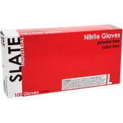 Ammex® Slate Powder-Free Textured Industrial Grade Nitrile Gloves, Med, 100/Box, 10 Box/CS
