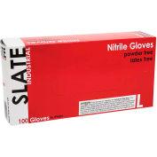 Ammex® Slate Powder-Free Textured Industrial Grade Nitrile Gloves, Large, 100/Box, 10 Box/CS
