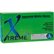 Ammex® Xtreme X3 Powder-Free Industrial Grade Nitrile Gloves, Medium, 100/Box, 10 Box/CS