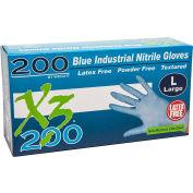 Ammex® Xtreme X3200 Powder-Free Industrial Grade Nitrile Gloves, XXL, 200/Box, 10 Box/CS