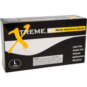 Ammex® XNPF Xtreme Industrial Grade Nitrile Gloves, Powder-Free, Blue, L, 100/Box, 10 Box/CS