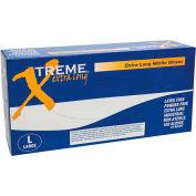 Ammex® XNPFL Xtreme Textured Medical/Exam Nitrile Gloves, Powder-Free, Extra Long, XL, 100/Box