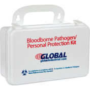 Global Industrial Small Industrial Bloodborne Pathogens Kit with CPR Mask, Weatherproof