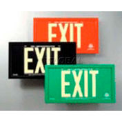 Double-Sided Green Aluminum Exit Sign Inside Green Aluminum Frame