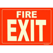 Photoluminescent Fire Exit Peel-And-Stick Self-Adhesive Sign