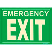 Photoluminescent Emergency Exit Peel-And-Stick Self-Adhesive Sign