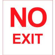 Photoluminescent No Exit Rigid PVC Sign, Non-Adhesive