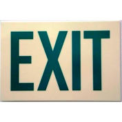Photoluminescent Sign With Exit In Reflective Green, Rigid PVC, Non-Adhesive