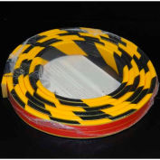 "Flat Bumper Guard, Type F, 16'L x 1-9/16""W x 7/16""H, Yellow/Black"