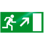 """Photoluminescent """"Man Right Up"""" Peel-And-Stick Self-Adhesive Sign"""