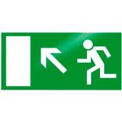 "Photoluminescent ""Man Left Up"" Rigid PVC Sign, Non-Adhesive"