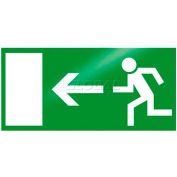 """Photoluminescent """"Man To Left"""" Peel-And-Stick Self-Adhesive Sign"""