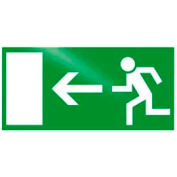 "Photoluminescent ""Man To Left"" Rigid PVC Sign, Non-Adhesive"