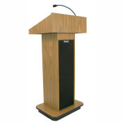 Executive Sound Column Lectern- Light Oak