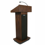 Executive Sound Column Podium / Lectern- Walnut