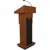 Executive Adjustable Height Lectern - Mahogany