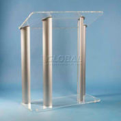 Contemporary Acrylic And Aluminum Lectern