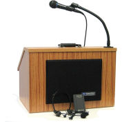 Wireless Folding Lectern With Carrying Case - Medium Oak