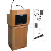 Oxford UHF Wireless 2 Piece Podium / Lectern - Oak