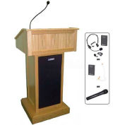 Victoria UHF Wireless Podium / Lectern - Maple