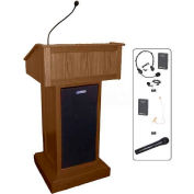 Victoria UHF Wireless Podium / Lectern - Walnut