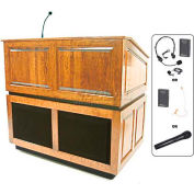 Ambassador UHF Wireless Lectern - Maple