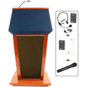Patriot UHF Wireless Podium / Lectern - Cherry