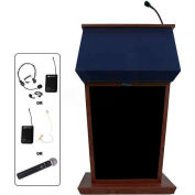 Patriot UHF Wireless Podium / Lectern - Mahogany