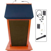Patriot Plus UHF Wireless Lectern - Mahogany