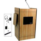 Multimedia UHF Wireless Podium / Lectern - Medium Oak