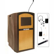 Wireless Pinnacle Full Height Lectern Maple