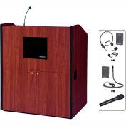 UHF Wireless Multimedia Smart Podium - Mahogany