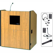UHF Wireless Multimedia Smart Podium - Maple