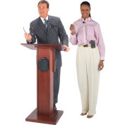 Wireless Elite Podium / Lectern - Mahogany