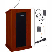 UHF Wireless Chancellor Lectern - Mahogany