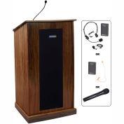 UHF Wireless Chancellor Lectern - Walnut
