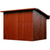 Non-Sound Travel-Lite Folding Tabletop Podium / Lectern-Mahogany