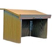 Non-Sound Travel-Lite Folding Tabletop Podium / Lectern- Medium Oak