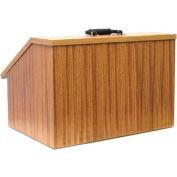 Non-Sound Folding Tabletop Lectern - Medium Oak